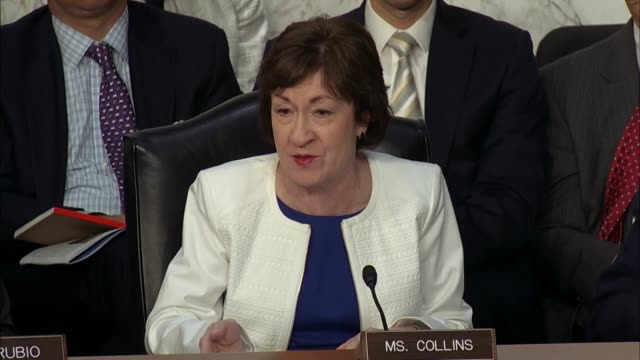 maine senator susan collins tells top intelligence officials there is confusion around section 702 bulk surveillance collection authority asking... - national security agency usa stock videos and b-roll footage