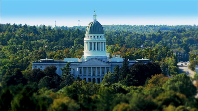maine state house, augusta, maine - augusta maine stock videos & royalty-free footage