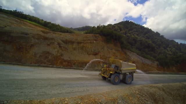 maintanance haul truck at gold mining company indonesia - dump truck stock videos and b-roll footage