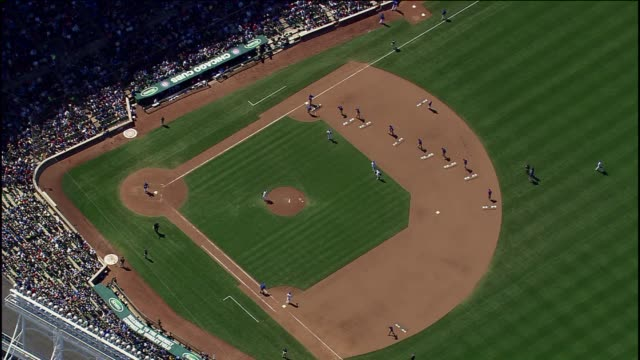 maintenance crew clears wrigley field - baseball diamond stock videos and b-roll footage