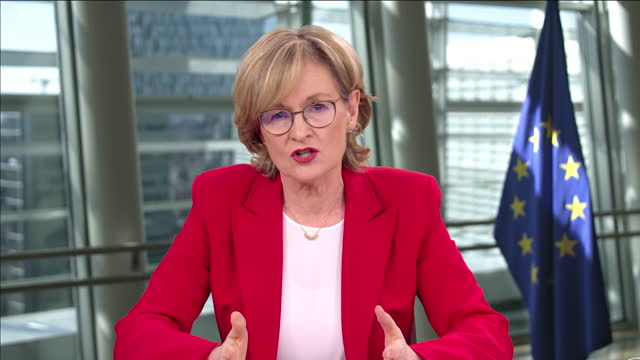 """mairead mcguinness saying every government needs to """"hold up their hands"""" and admit they were not prepared for covid-19 - """"bbc news"""" stock videos & royalty-free footage"""