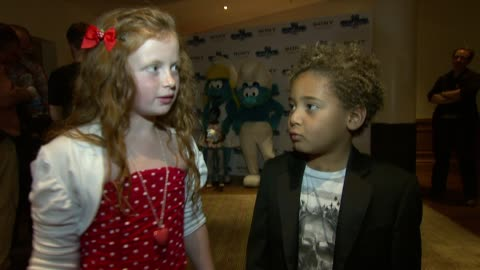 maisie smith, devon higgs on eastenders, work schedules at the the smurfs in 3d uk gala premiere at london england. - eastenders stock videos & royalty-free footage