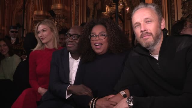 maisie williams sofia carson oprah winfrey tina kunakey edward enninful alasdhair willis clemence poesy karlie kloss and more front row for the... - oprah winfrey stock videos & royalty-free footage
