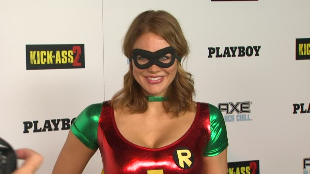 maitland ward at playboy and universal pictures' kickass 2 event at comiccon sponsored by axe black chill on 7/20/2013 in san diego ca - maitland ward stock-videos und b-roll-filmmaterial