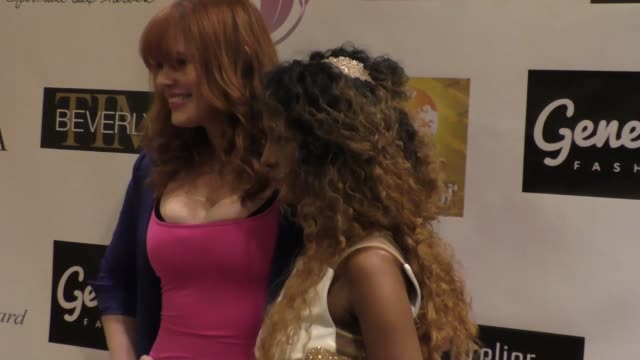 maitland ward baxter and trina mcgeedavis at the 'reel haute' in hollywood international couture fashion show at the beverly hilton hotel in beverly... - maitland ward stock-videos und b-roll-filmmaterial