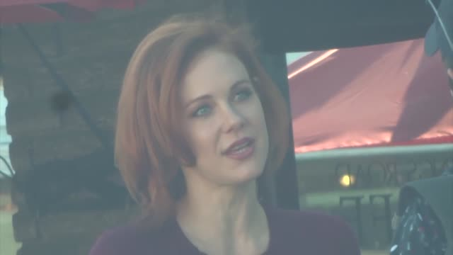 maitland ward chats with photographers in beverly hills in celebrity sightings in los angeles - maitland ward stock-videos und b-roll-filmmaterial