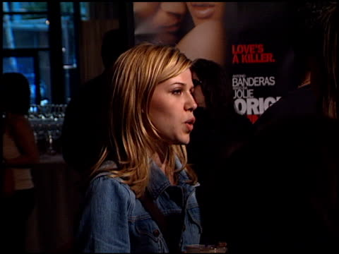 majandra delfino at the 'original sin' premiere at dga theater in los angeles california on july 31 2001 - dga theater stock videos & royalty-free footage
