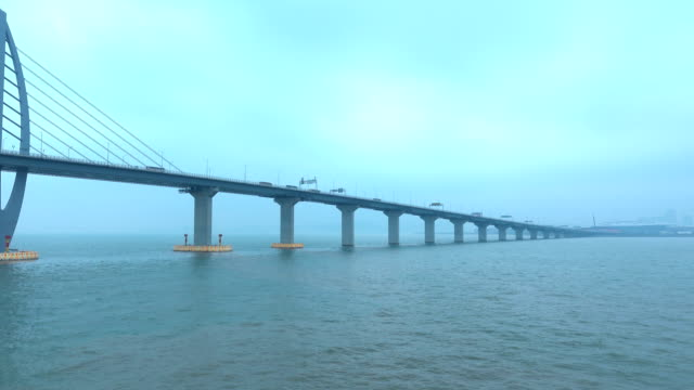 majestic bridge across sea - majestic stock videos & royalty-free footage
