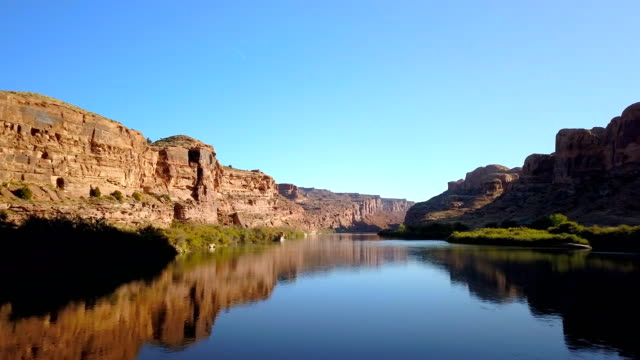 majestic cinematic drone footage colorado river canyons - river colorado stock videos & royalty-free footage