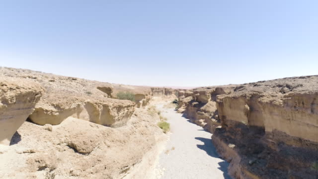Majestic gorge on Namibian desert. Aerial view