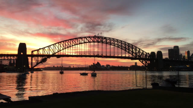 majestic morning sunrise at sydney - international landmark stock videos & royalty-free footage