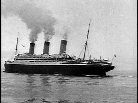 1923 ws rms majestic sailing / united states - passenger ship stock videos & royalty-free footage