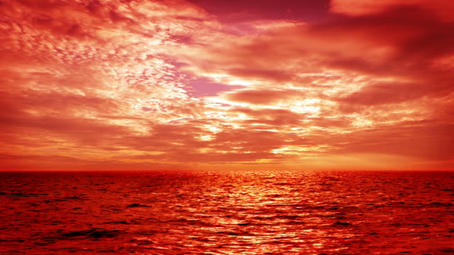 majestic sunset over sea - cirrocumulus stock videos & royalty-free footage