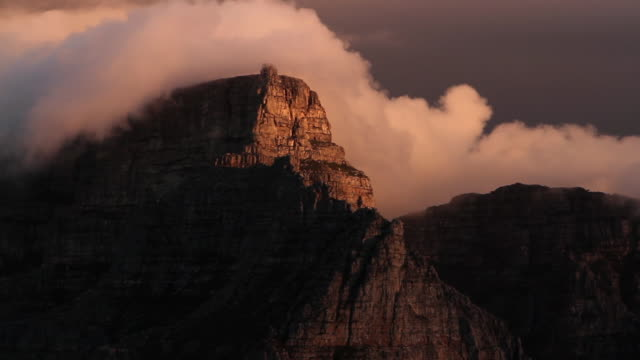 Majestic Table Mountain at sunset