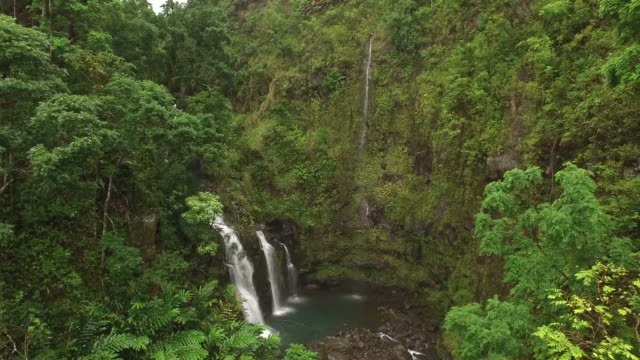 majestic waterfalls by drone - majestic stock videos & royalty-free footage