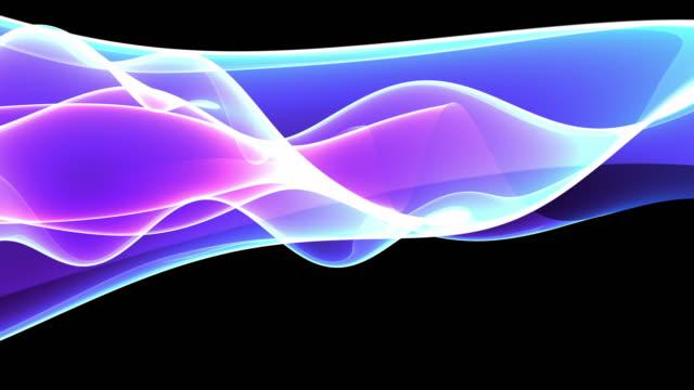 Majestic Waves Loop - Neon Blue Pink (HD)