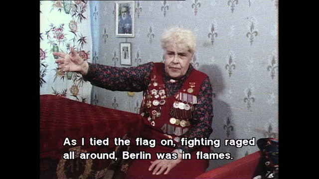 major anna nikulina recalls the moment she raised the soviet flag on top of the reichschancellery during the battle of berlin when the soviet army... - senior women stock videos & royalty-free footage