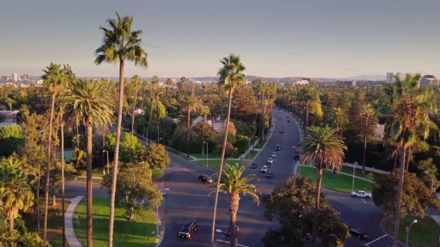 major beverly hills intersection from above - beverly hills california stock videos & royalty-free footage
