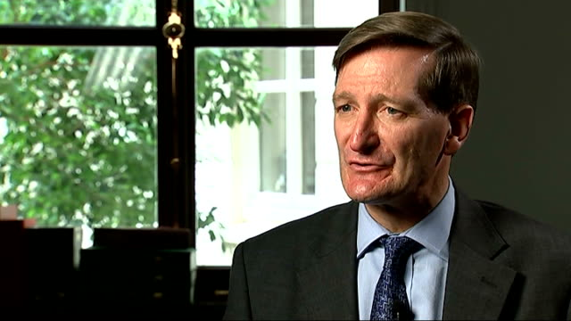 more women selected / michael gove replaced as education secretary int dominic grieve mp interview sot i don't know why i have been shuffled / nobody... - dominic grieve stock videos and b-roll footage