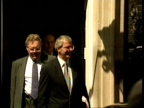 major defends ministers' involvement with asil nadir england london downing street john major out of no 10 pull out as into car - eurasia stock videos and b-roll footage