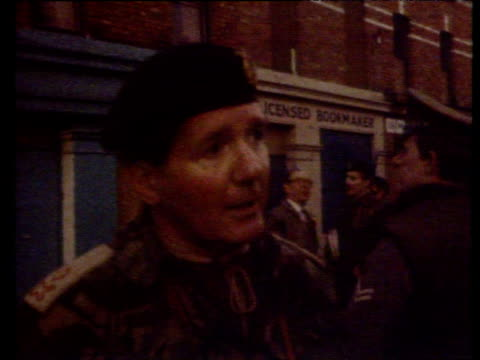 major general robert ford commander land forces in northern ireland is interviewed by reporter denies that paratroopers opened fire first on rioters... - derry northern ireland stock videos & royalty-free footage