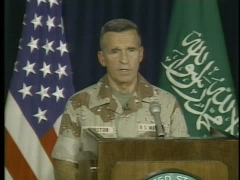 major general robert johnston of the us central command says that iraqi troop morale is low. - united states department of defense stock videos & royalty-free footage
