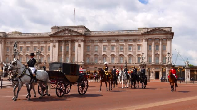 major general's review buckingham palace london - queen royal person stock videos & royalty-free footage