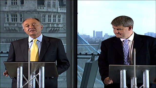 stockvideo's en b-roll-footage met major nfl game to be played in london england london city hall int wide shot of press conference livingstone press conference sot our tourism figures... - number 9