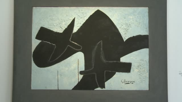 major retrospective of cubist painter georges braque opens in paris with an extravagant number of 250 canvases displayed in the grand palais clean... - cubism stock videos & royalty-free footage