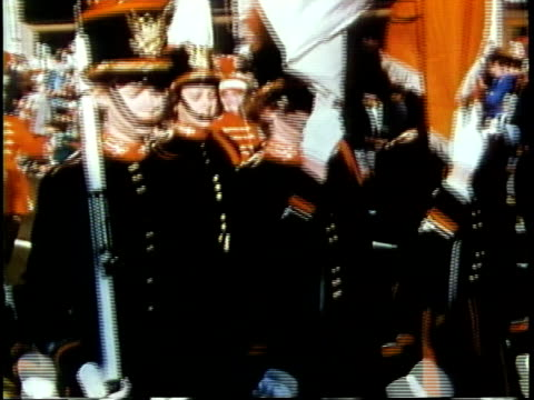 1963 montage majorettes, marching bands, native americans taking part in parade / chicago, united states / audio - parade stock videos & royalty-free footage