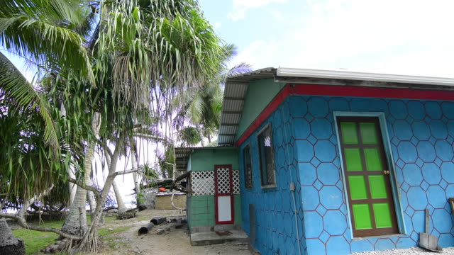 majuro marshall islands colorful local homes in capital city - marshall islands stock videos & royalty-free footage