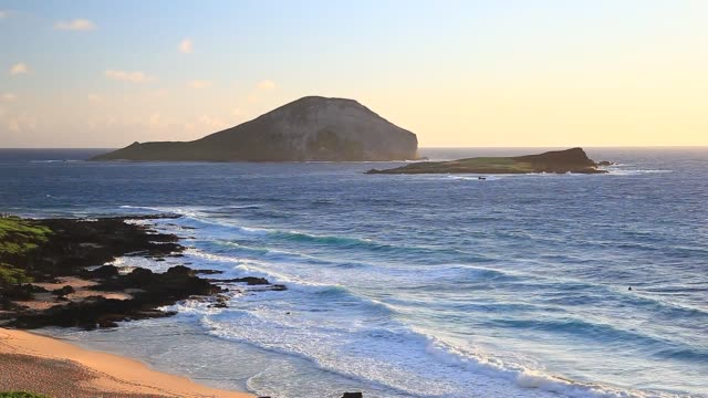 Makapuu Beach at Sunrise from the lookout