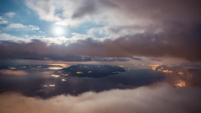 makarska and brac island under a dramatic sky, biokovo, croatia - ブラック島点の映像素材/bロール