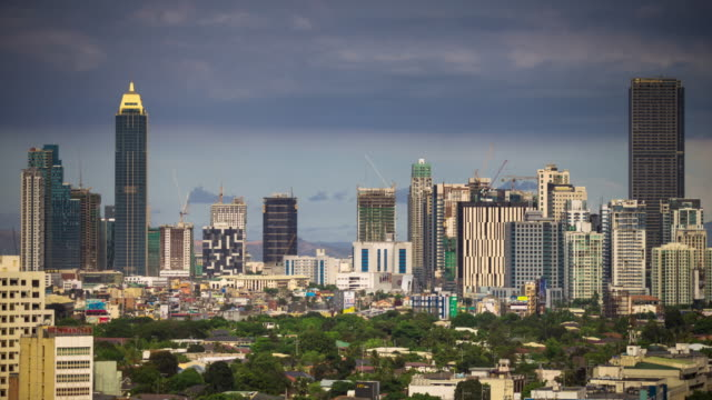 makati, manila - time lapse - philippines stock videos and b-roll footage