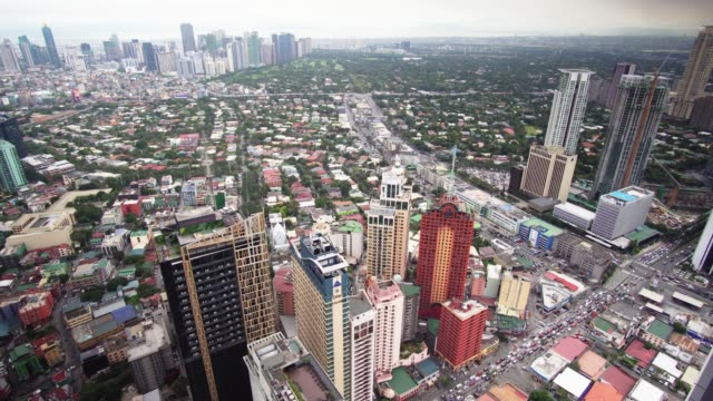 makati skyline, metro manila - philippines - philippines stock videos and b-roll footage