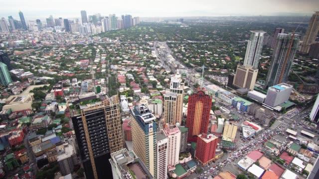 stockvideo's en b-roll-footage met makati skyline, metro manila - philippines - filipijnen