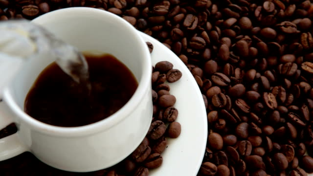 make a cup of delicious coffee - cafe macchiato stock videos and b-roll footage