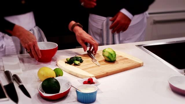 make a salad - avocado salad stock videos & royalty-free footage