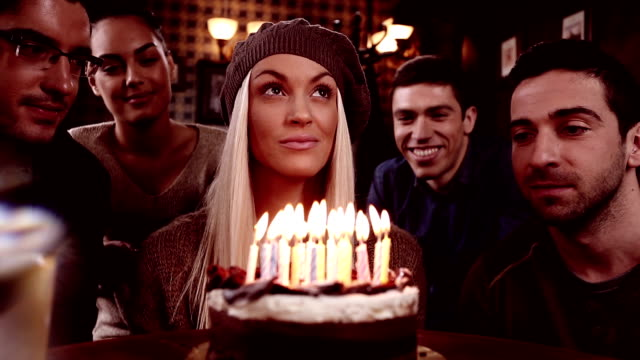 make a wish for your birthday! - birthday candles stock videos and b-roll footage