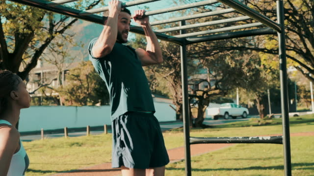 make it a habit to switch up your workout - pull ups stock videos & royalty-free footage