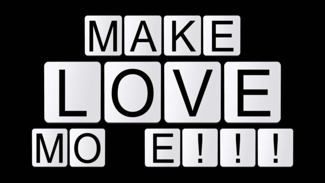 make love more!!! - crossword stock videos and b-roll footage