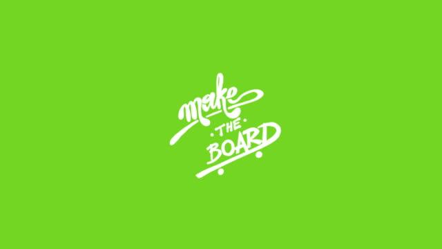 Make the Board - Inscription