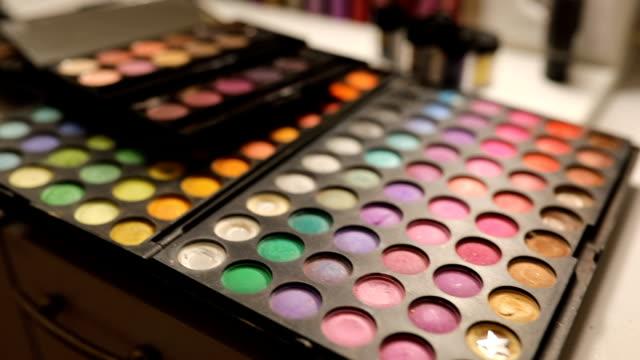 make up artsit workplace - make up brush stock videos and b-roll footage