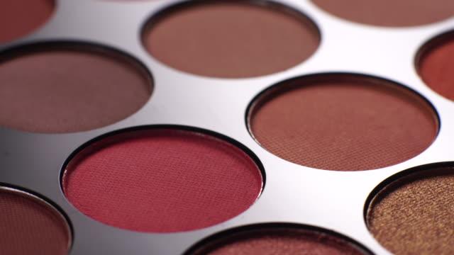 make up palette rotating - make up brush stock videos & royalty-free footage
