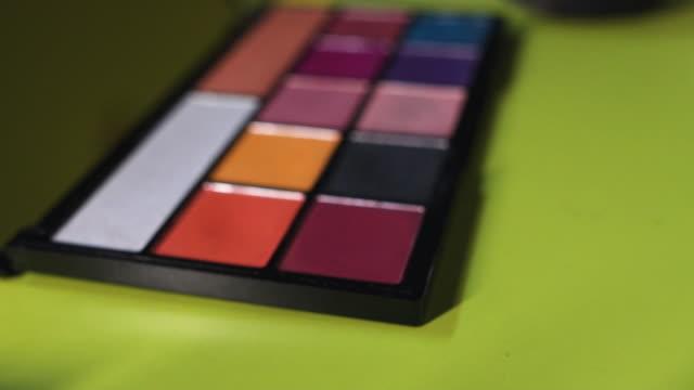 make up palette - talcum powder stock videos & royalty-free footage