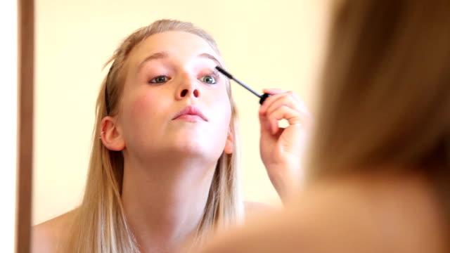 Make Up Video Series: Woman Applying Mascara