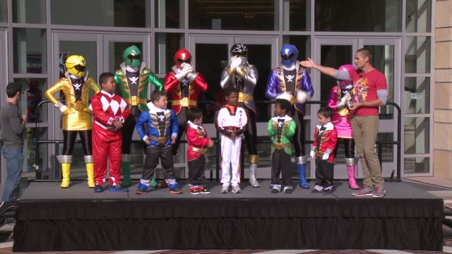 MakeAWish Stunt at Saban's Power Rangers At Power Morphicon 2014 on August 23 2014 in Pasadena California