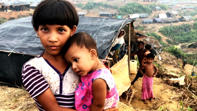 makeshift shelters cover the hills in the overcrowded balukhali camp september 17 2017 in balukhali cox's bazar bangladesh nearly 400000 rohingya... - cox's bazar stock videos & royalty-free footage