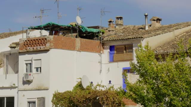 makeshift sun terrace at back of house in village of Benissivà