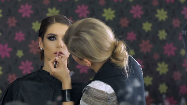 make-up artist at work - stage make up stock videos and b-roll footage